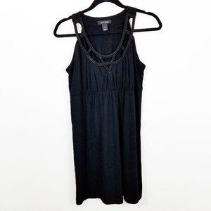 WHBM Sleeveless Mini Dress + beaded neckline G25